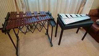 木琴と鉄琴の写真