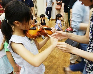 ヴァイオリンの演奏体験