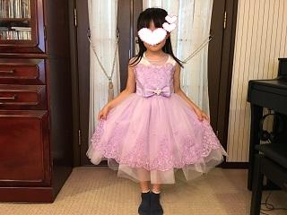 Mちゃんドレス姿