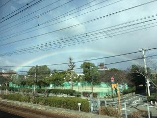車内からの虹